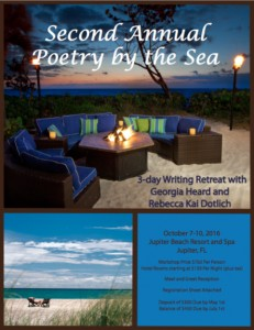 Registration is now open for the Second Annual Poetry-by-the-Sea Retreat in Jupiter, Florida